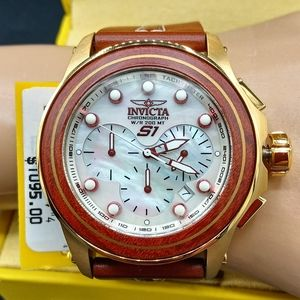 FIRM PRICE-NEW INVICTA S1 Wood Mother of Pearl